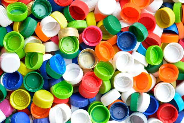 colored cap on plastic bottle - plastic cap stock pictures, royalty-free photos & images