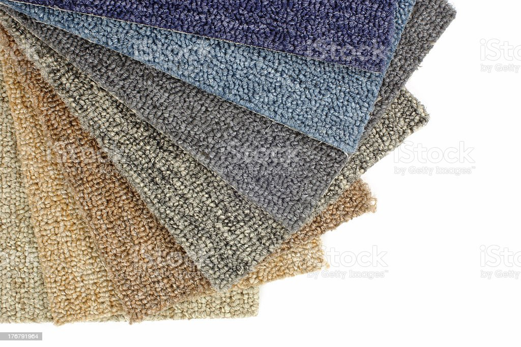 Colored carpet samples stock photo