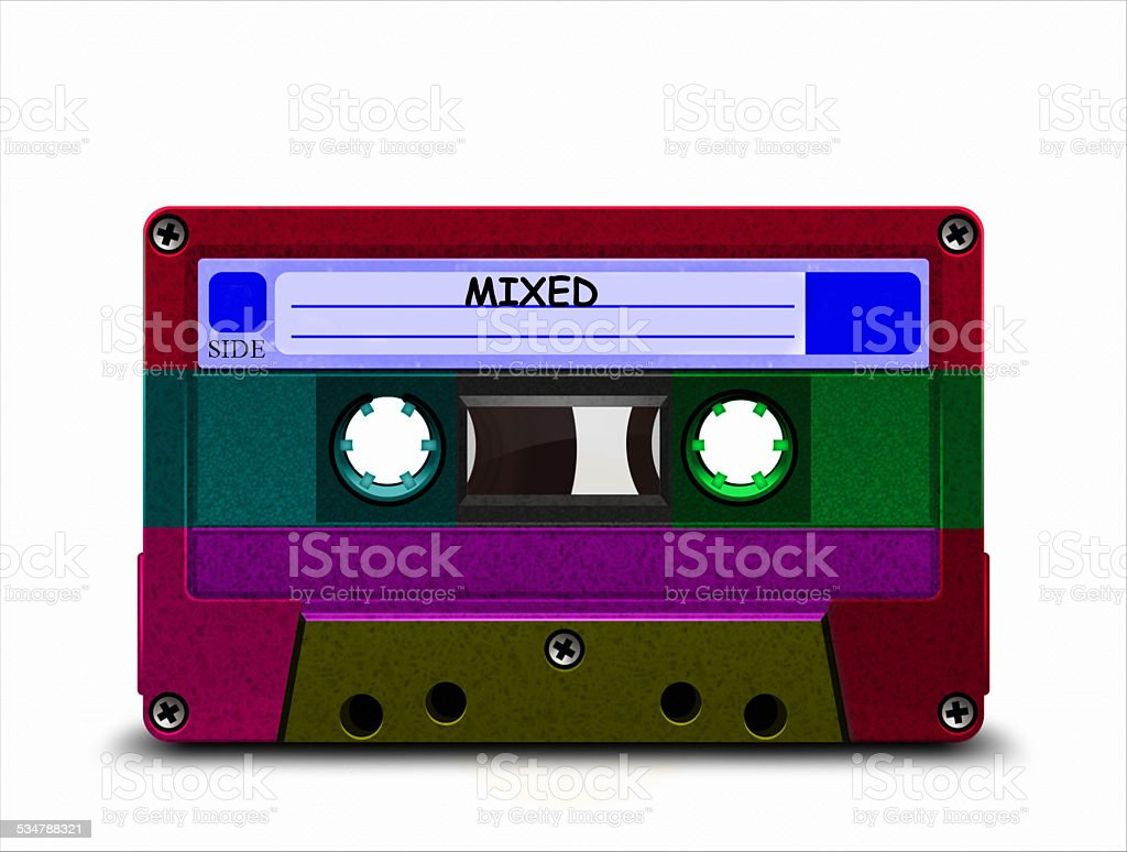 colored Cassette Tape stock photo