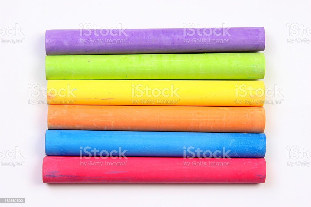 Colored chalks horizontal royalty-free stock photo