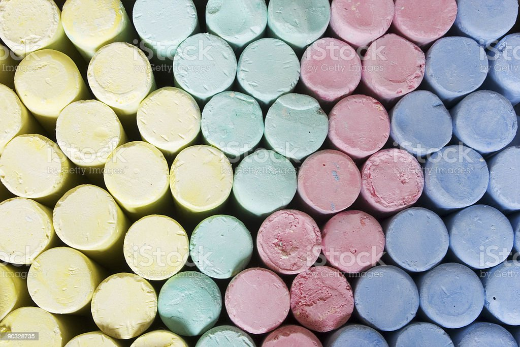 Colored Chalks royalty-free stock photo