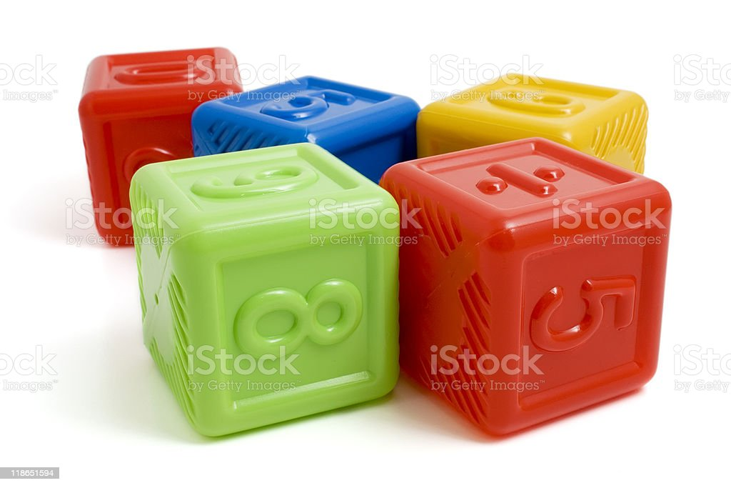 Colored children's building blocks royalty-free stock photo