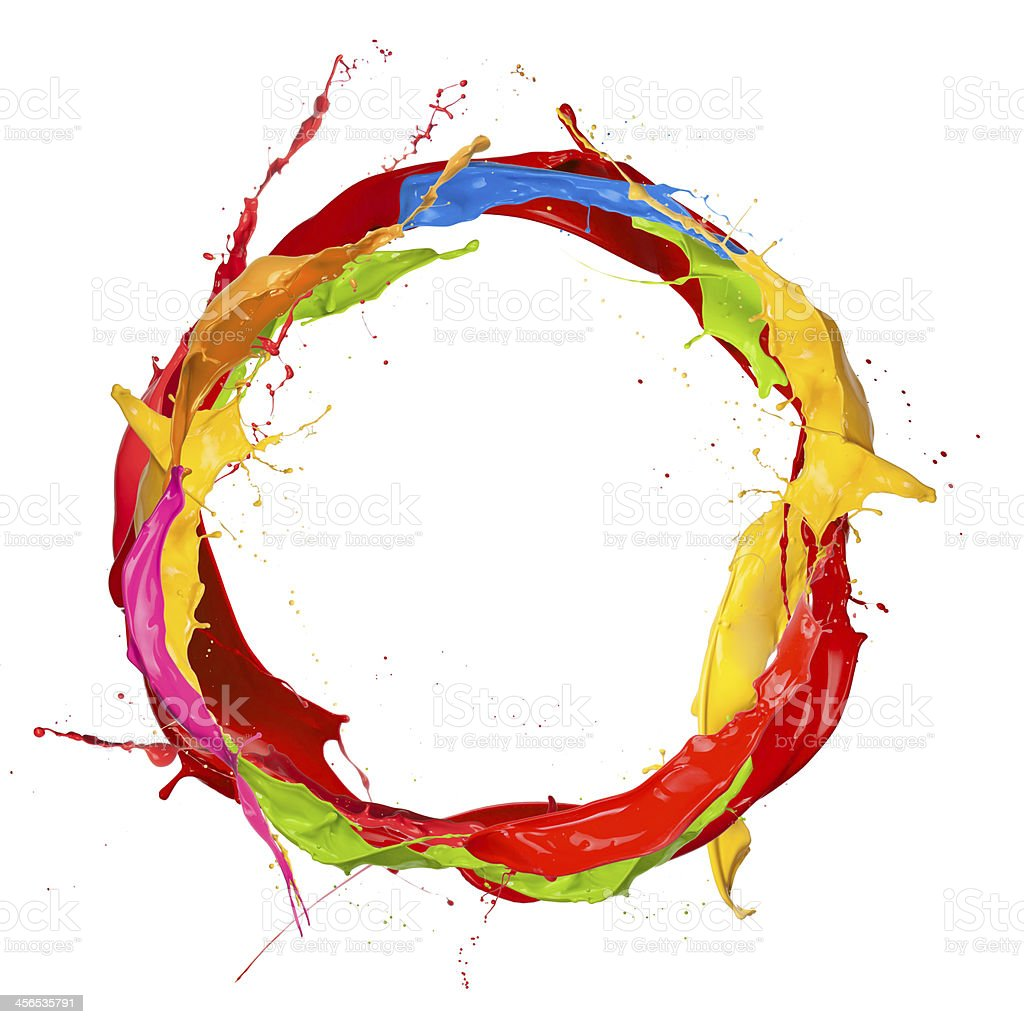 Colored circle stock photo