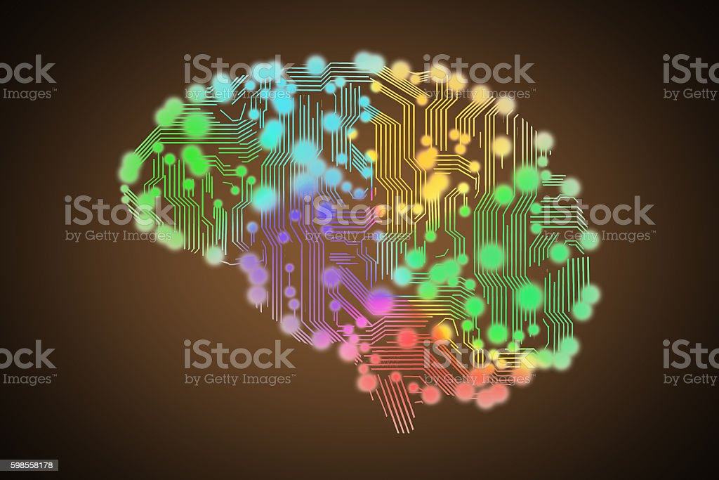 colored circuit board stock photo