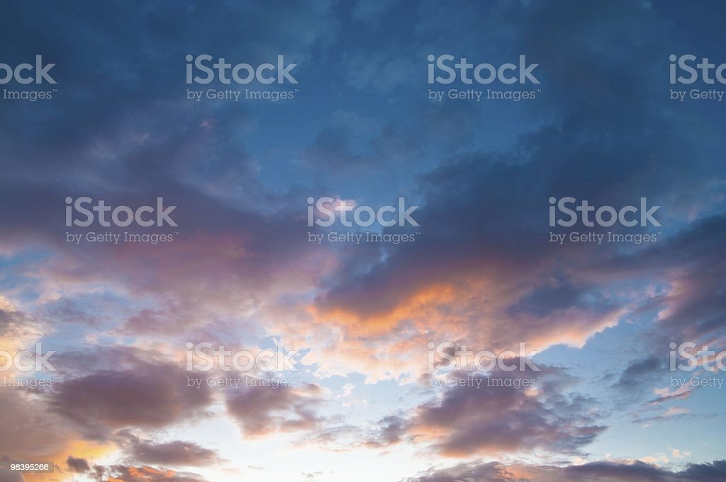 colored clouds royalty-free stock photo