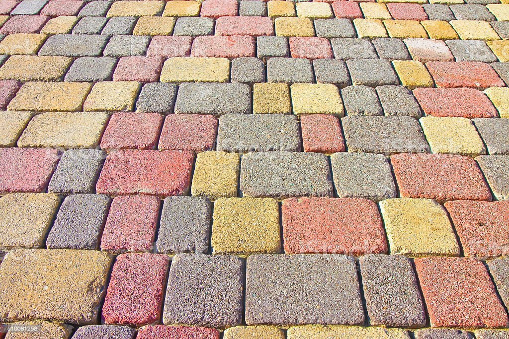 Colored concrete flooring stock photo