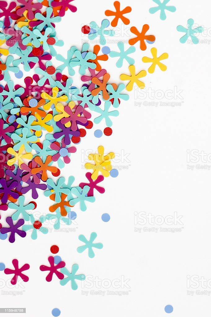 Colored Confetti royalty-free stock photo