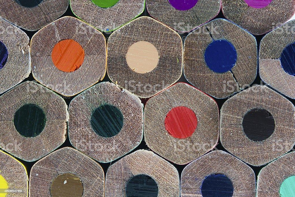 Kolorowe kredki dołu – zdjęcie