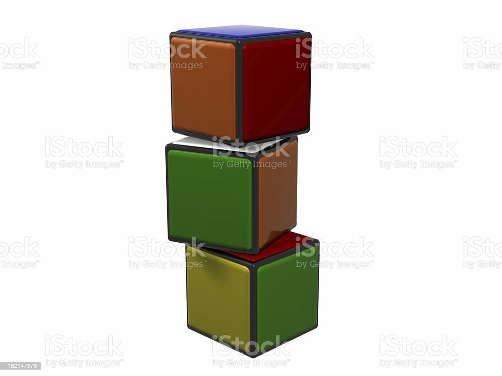 Colored cubes 2 royalty-free stock photo