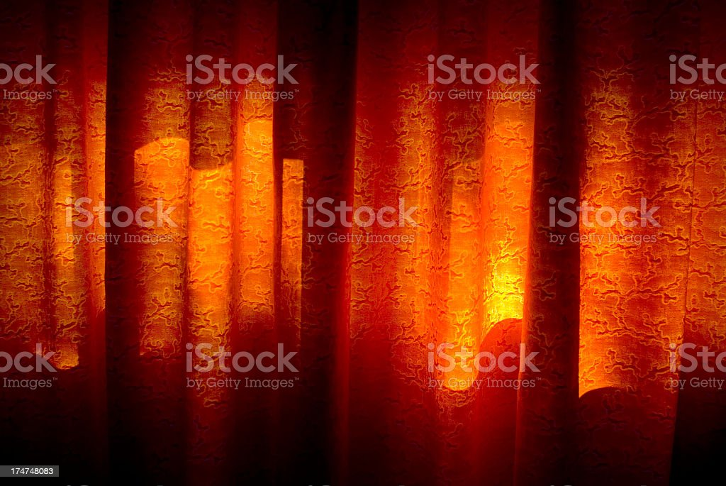 Colored Curtains royalty-free stock photo