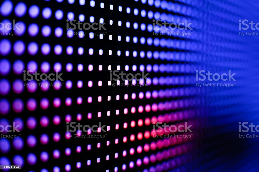 Colored deep blue and red LED smd screen stock photo