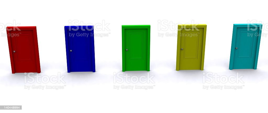 Colored Doors royalty-free stock photo