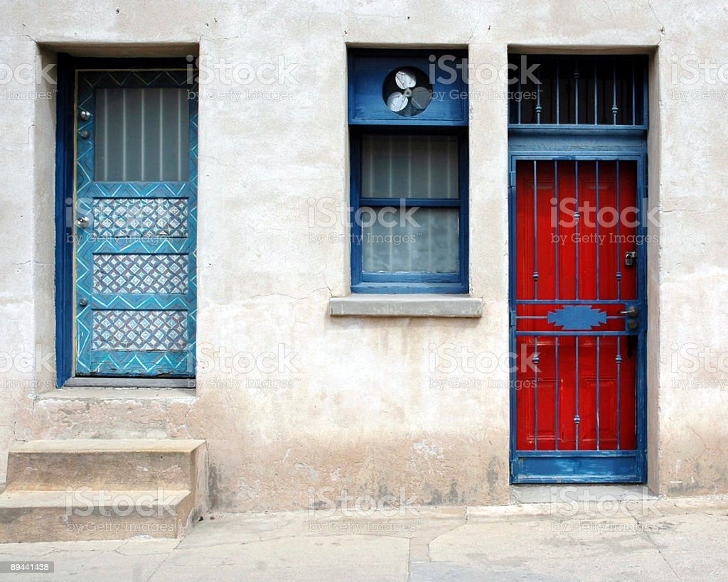 Porte di colori foto stock royalty-free