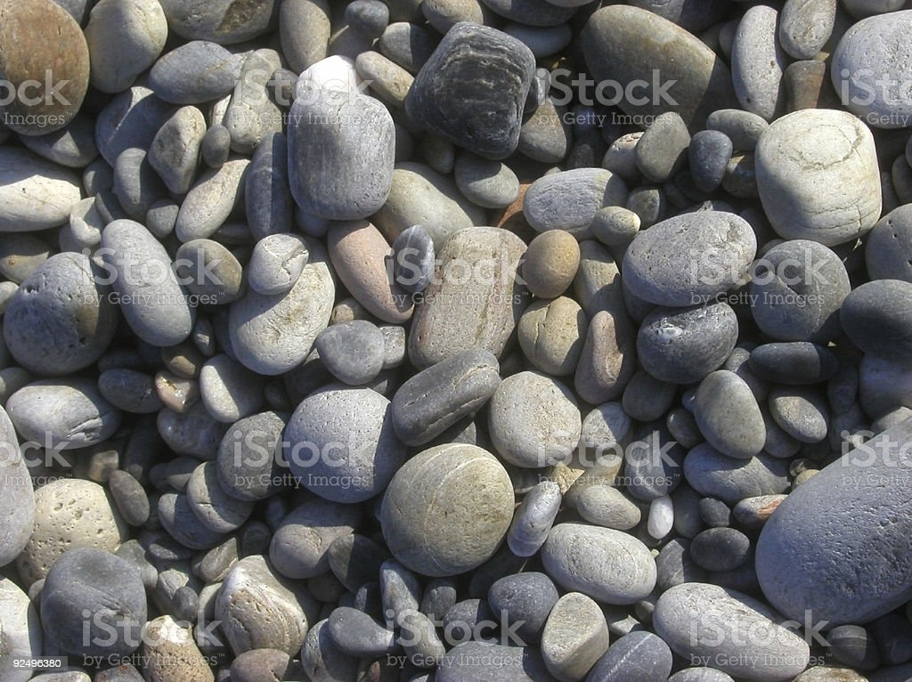colored dry pebbles on a mediterranean beach royalty-free stock photo
