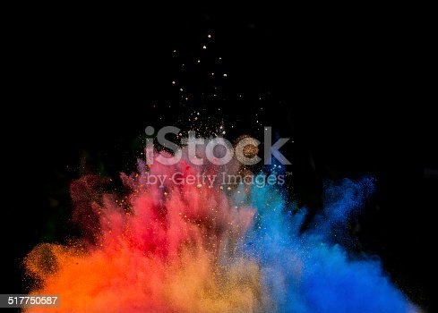 istock colored dust explosion on black background 517750587
