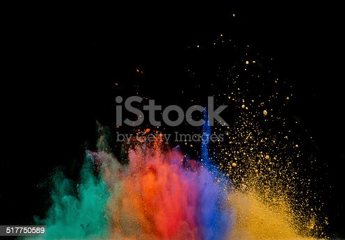 istock colored dust explosion on black background 517750589