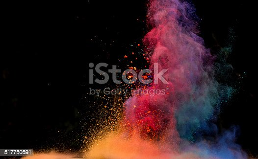 istock colored dust explosion on black background 517750591