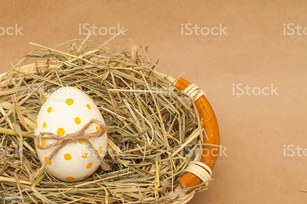colored easter egg with bowknot royalty-free stock photo