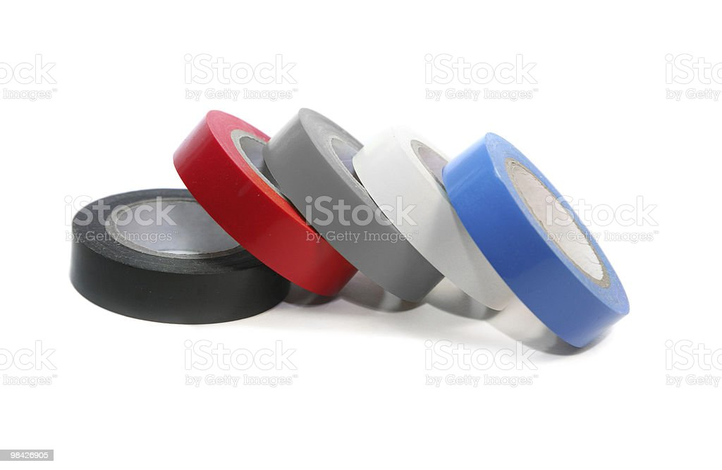 Colored electrical tape royalty-free stock photo