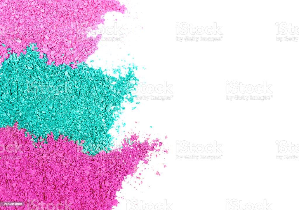 Colored eyeshadow background stock photo
