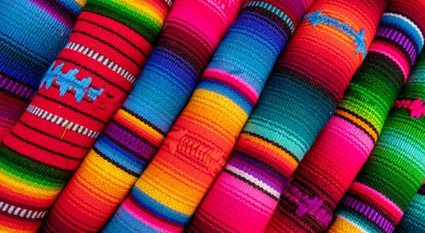 채색기법 패브릭 - 남미 문화 뉴스 사진 이미지