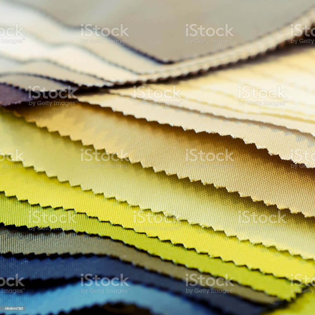 Colored fabric swatch stock photo