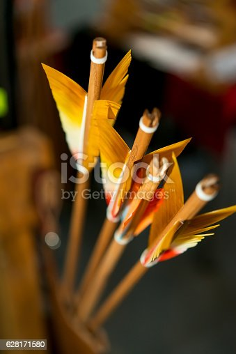 istock colored feathers arrows for archery 628171580