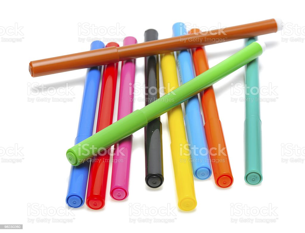 Colored felt pens royalty-free stock photo