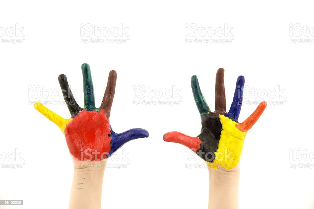Colored fingers royalty-free stock photo
