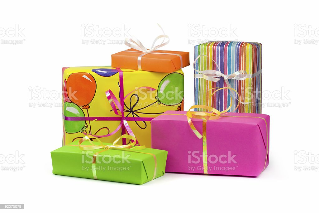 Colored gift boxes royalty-free stock photo