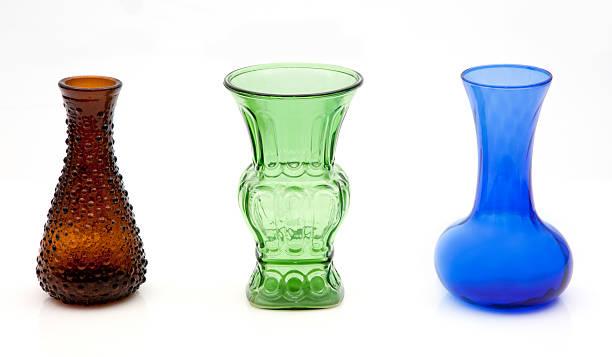farbige glas vasen - vase glas stock-fotos und bilder