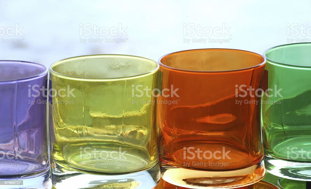 Colored Glasses royalty-free stock photo