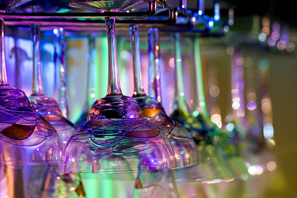 Colored Glassware stock photo