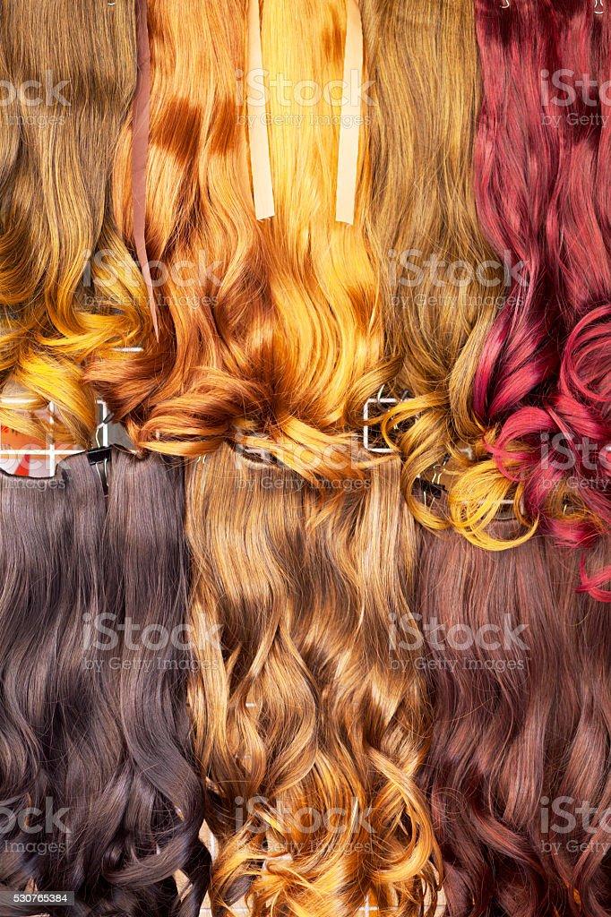 Cor Prolongamento de cabelo - foto de acervo