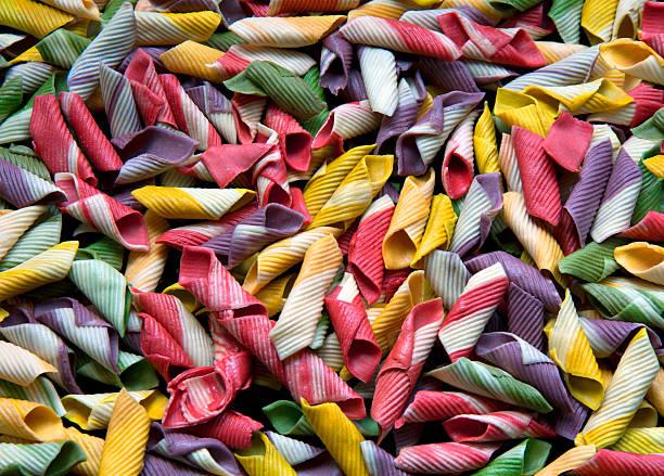 Colored italian pasta_01 stock photo