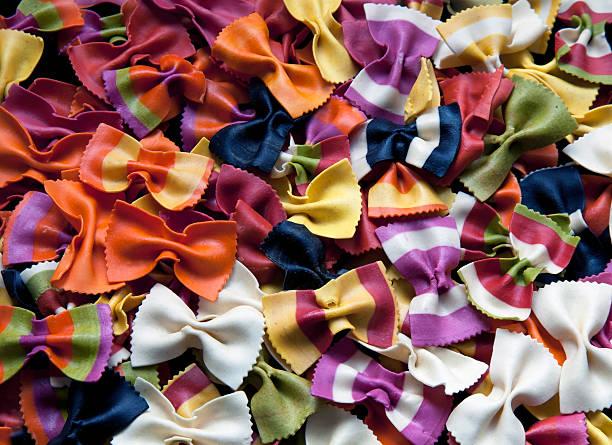 Colored italian pasta_02 stock photo
