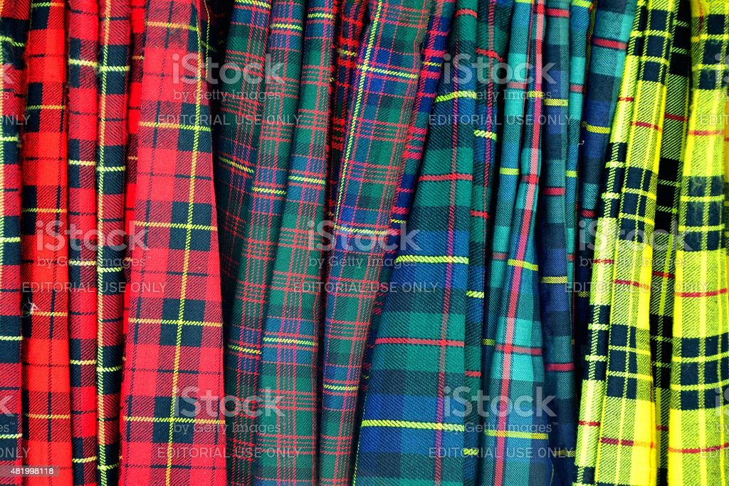 Colored Kilts stock photo