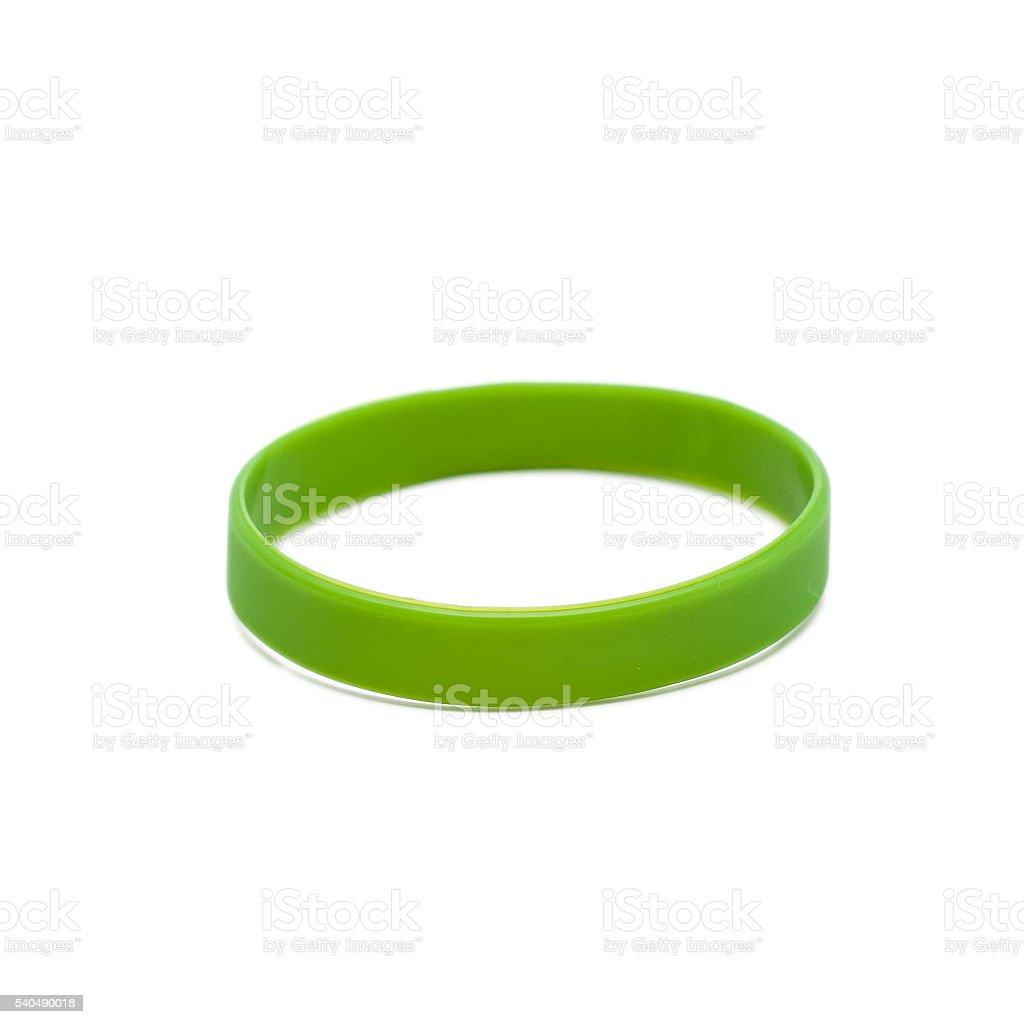 Colored latex bracelet stock photo