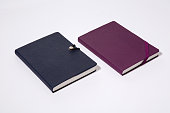 Colored leather cover notebooks.
