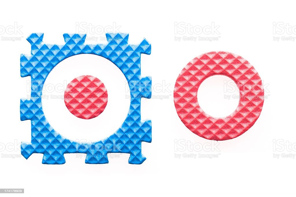 Colored letters O alphabet for children royalty-free stock photo