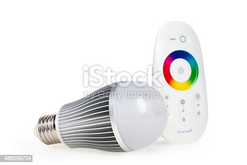 466623283 istock photo LED colored light with remote control 486356704