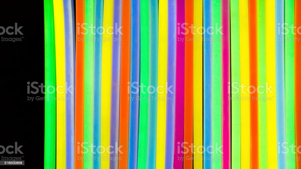 Luzes fluorescentes Cor néon - foto de acervo