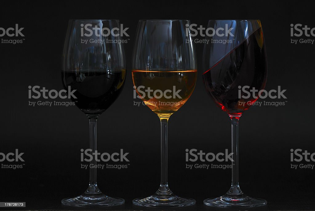 colored liquids one oblique royalty-free stock photo