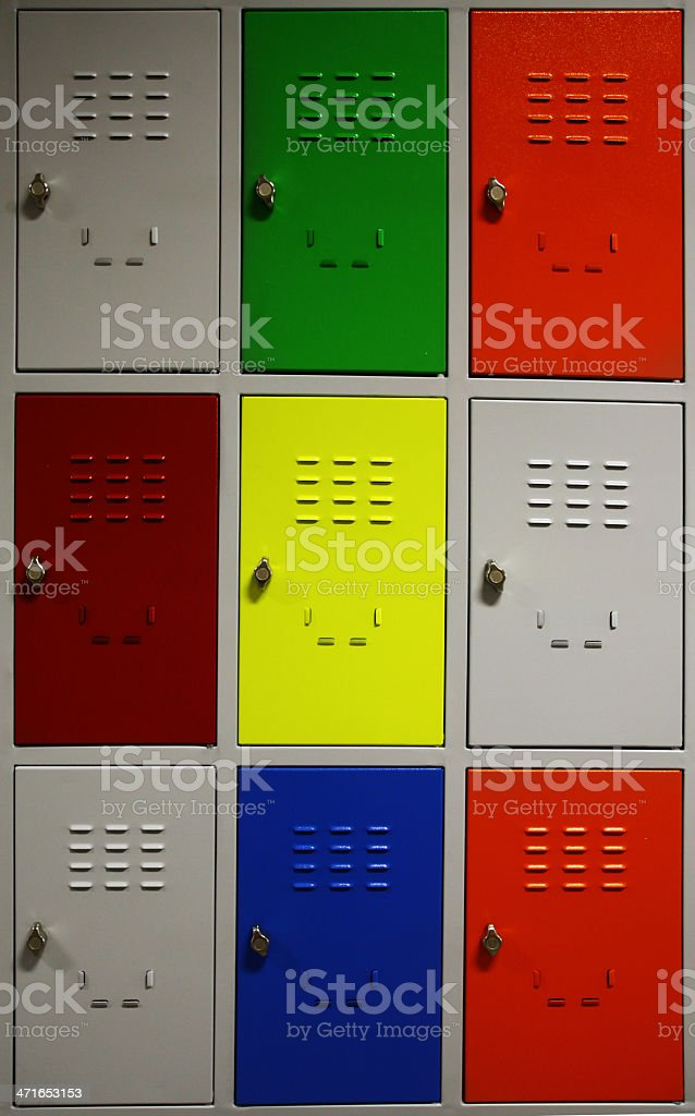 Colored Lockers royalty-free stock photo