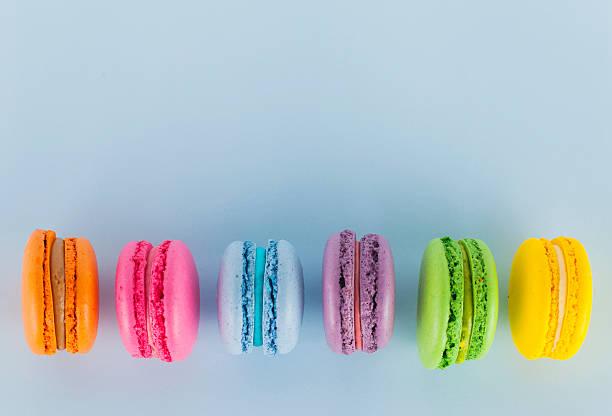 Colored Macarons stock photo
