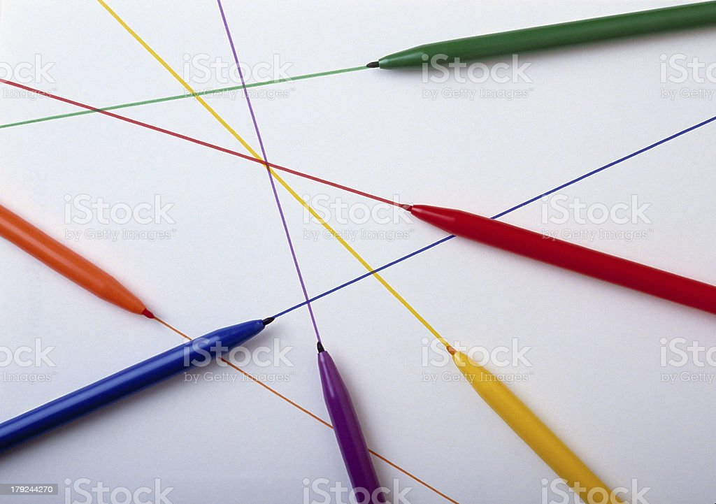 Colored Marking Pens stock photo