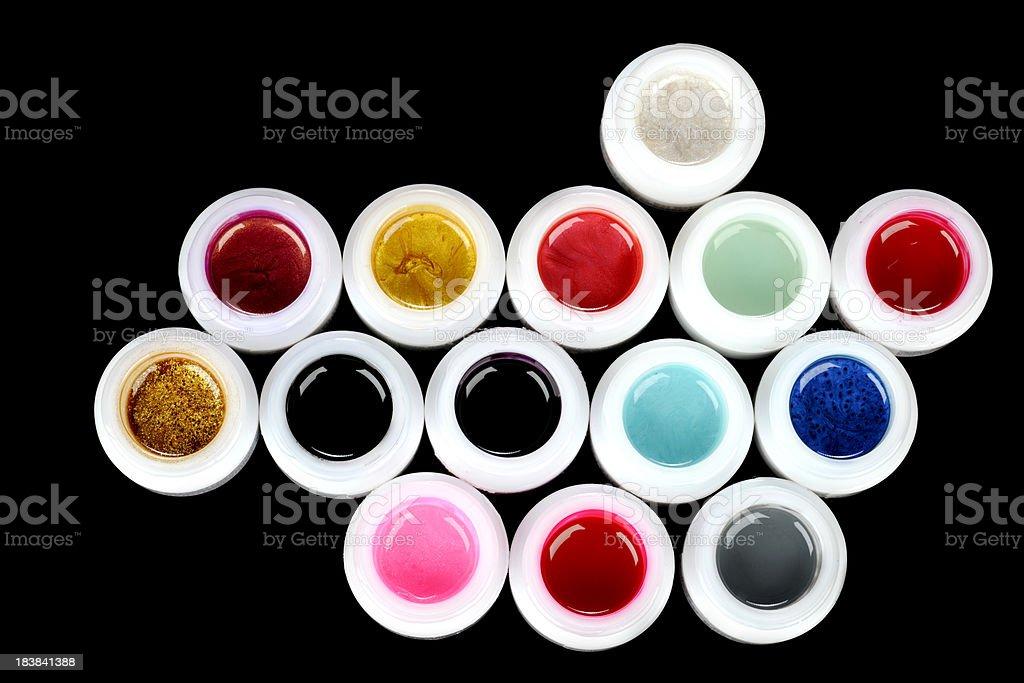 Colored nail polish royalty-free stock photo
