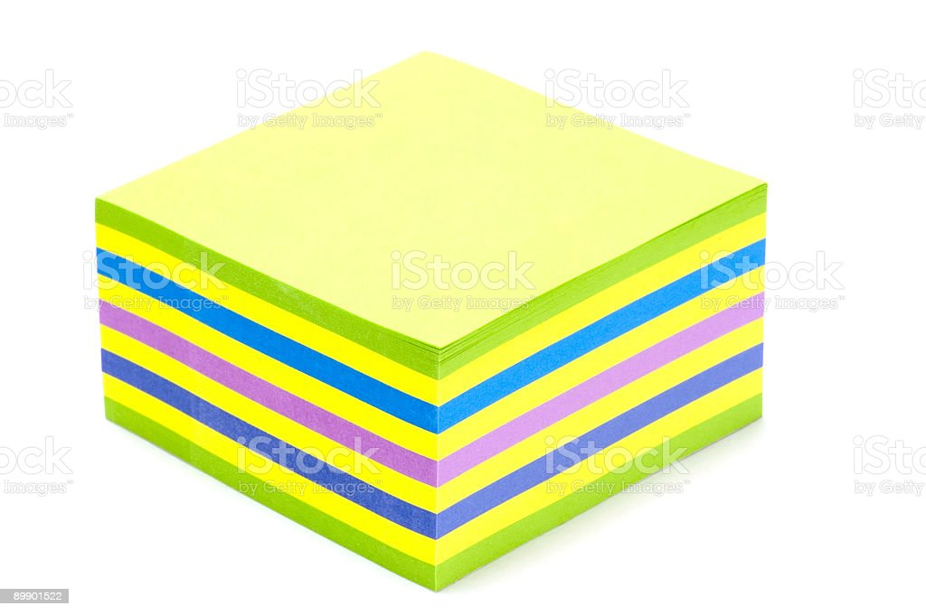 Colored Notebook paper royalty-free stock photo
