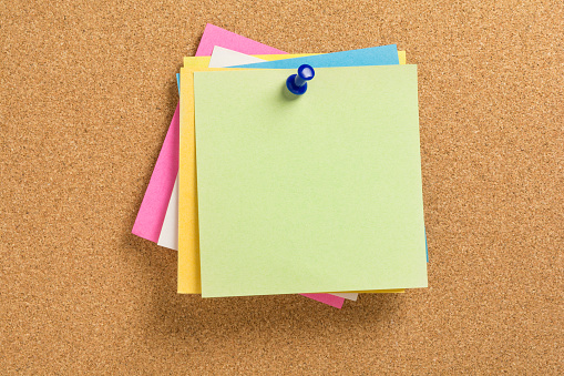 istock colored notepapers 516798690