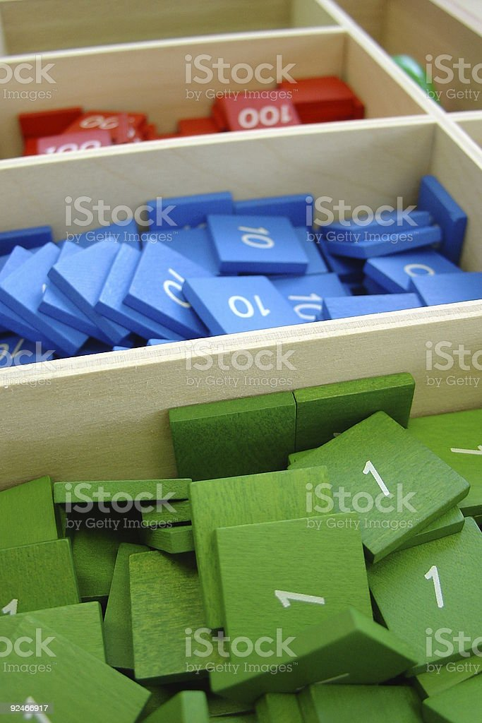 colored numbers royalty-free stock photo